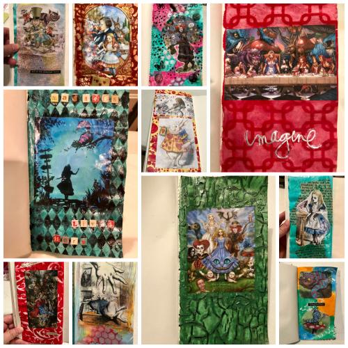 Robin Caroll Alice Journal  Collage