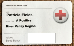 Blood Card Tricia Fields