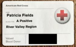 Blood Card Tricia Fields